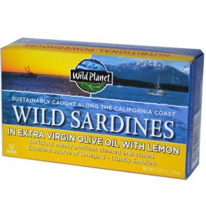 Wild Sardines In Extra Virgin olive oil w/lemon